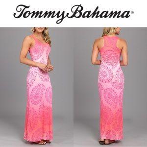 "TOMMY BAHAMA ""pink sunset"" paisley dress"